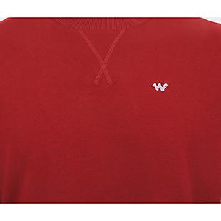 Wildcraft Men Crew Neck Sweatshirt - Maroon