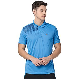 Wildcraft Men Poly Print Polo