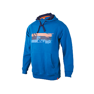 Wildcraft Men Hooded Sweatshirt: Steps - Blue