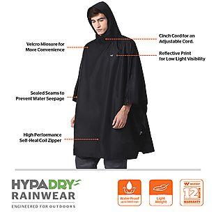 Wildcraft Hypadry Plus Unisex Rain Poncho - Black