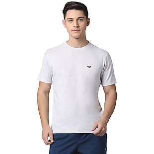 Wildcraft Men Crew T Shirt - Grey Melange