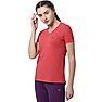 Wildcraft Women V Neck Crew T Shirt - Red Melange