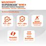 Wildcraft SUPERMASK W95 Plus Reusable Outdoor Respirator - POPCORN BLACK - Pack of 7